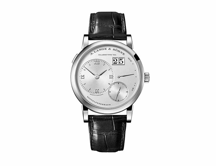 LANGE 1 in white gold with solid-silver dial