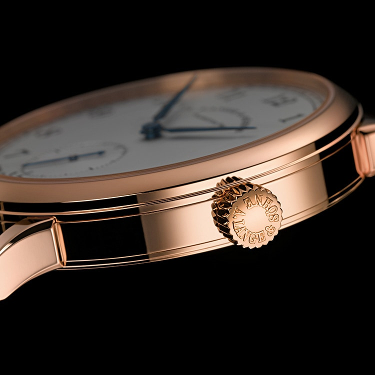 Case of the 1815 in pink gold