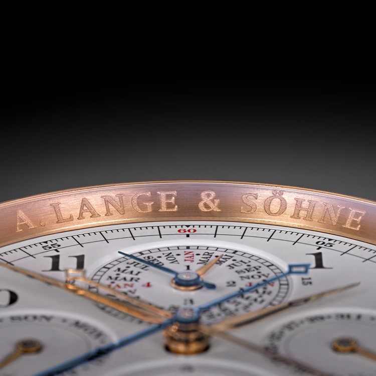 The pink gold GRAND COMPLICATION features a Grande Sonnerie, a perpetual calendar and a chronograph rattrapante function with flying seconds.