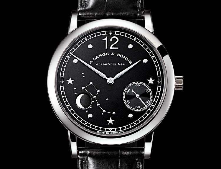 Dial of the 1815 MOON PHASE in platinum