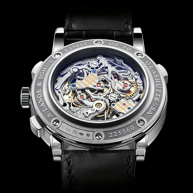 "Each of the 684 individual parts of the calibre L133.1 in the TOURBOGRAPH PERPETUAL ""Pour le Mérite"" receives special attention to the finishing."