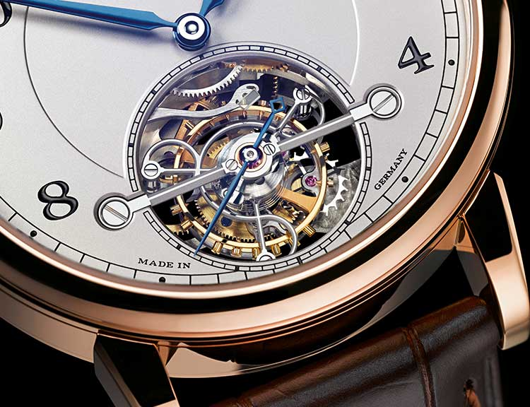 Close up of the tourbillon of the 1815 TOURBILLON