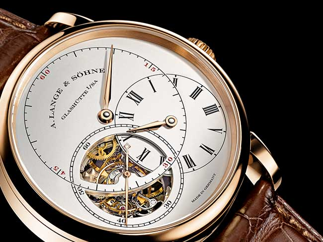 "Dial side of the RICHARD LANGE TOURBILLON ""Pour le Mérite"""