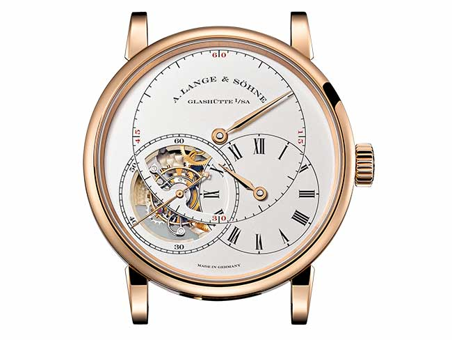 "RICHARD LANGE TOURBILLON ""Pour le Mérite"" in pink gold with visible tourbillon"