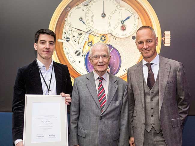 Timothé Raguin, Walter Lange and Wilhelm Schmid at the award presentation+M36