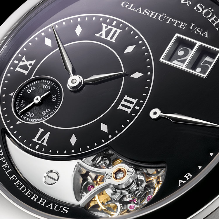 The LANGE 1 TOURBILLON HANDWERKSKUNST is available in a special limited edition of 20 timepieces.
