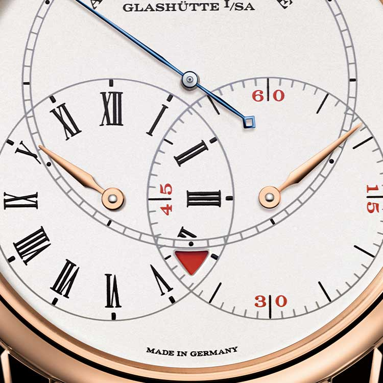 The RICHARD LANGE JUMPING SECONDS combines utmost precision with optimal legibility.