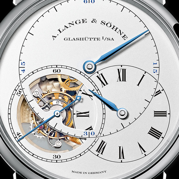 "The three-part regulator dial of the RICHARD LANGE TOURBILLON ""Pour le Mérite"" was inspired by Dresden's master watchmaker Johann Heinrich Seyffert."