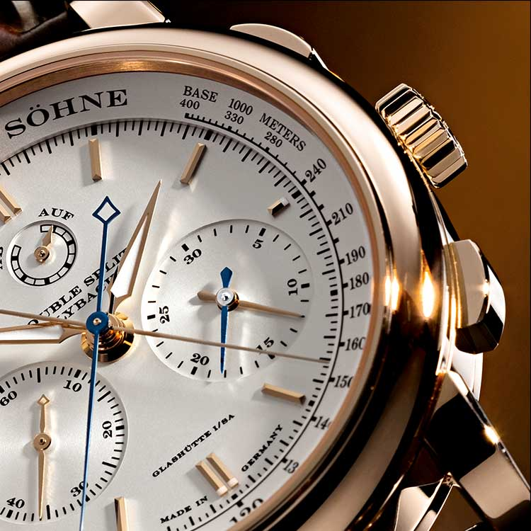 The DOUBLE SPLIT is the first and only mechanical chronogrpah with a double rattrapante function.