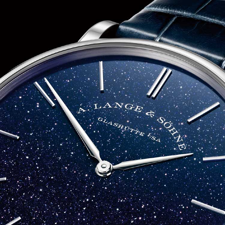 With a case thickness of just 5.9 mm, SAXONIA THIN is currently the thinnest watch Lange has produced.