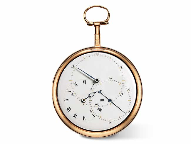 Pocket chronometer in pink gold