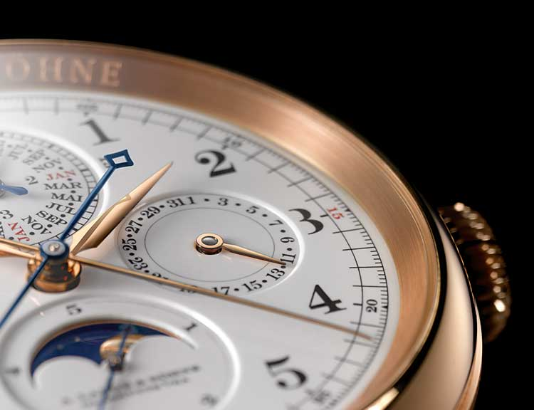 Close-up of the  GRAND COMPLICATION