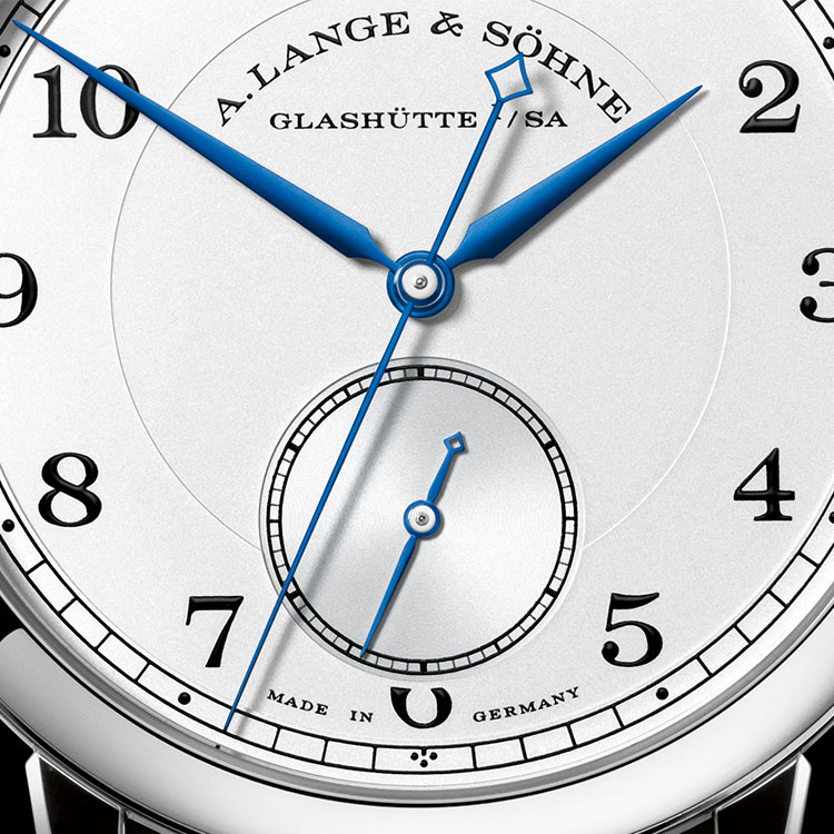 "The 1815 ""Homage to Walter Lange"" in white gold is a limited edition of 145 timepieces."