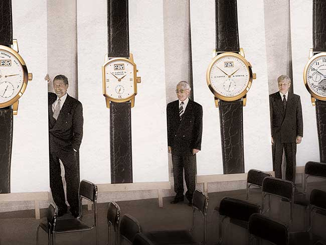 Walter Lange & Günter Blümlein present four new watches in 1994