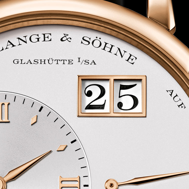 The GRAND LANGE 1 has the largest outsize date of all Lange watches to date.