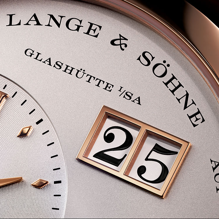 The LANGE 1 has an extraordinary dial design with Lange's typical outsize date.