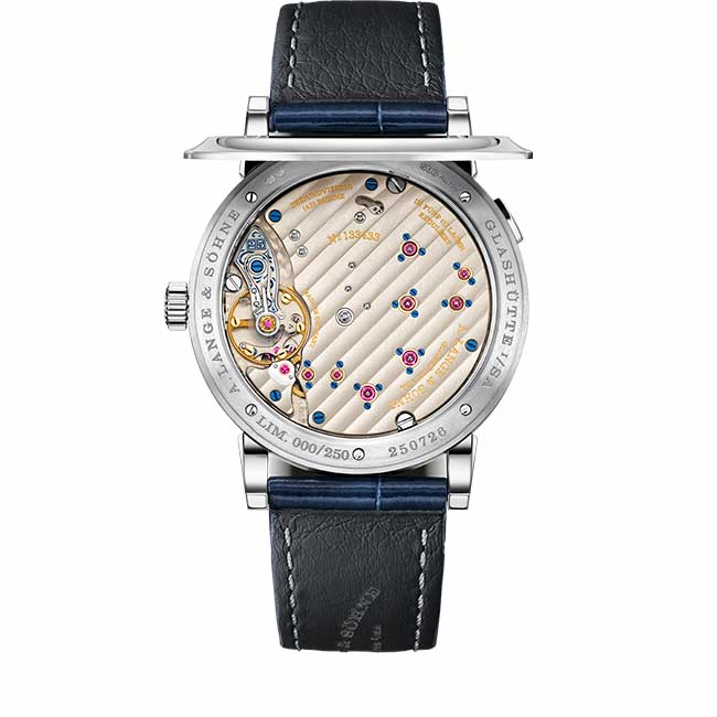 "LANGE 1 ""25th Anniversary"" Movement with three-quarter plate"