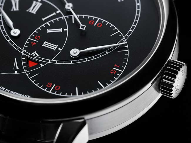 RICHARD LANGE JUMPING SECONDS with black dial