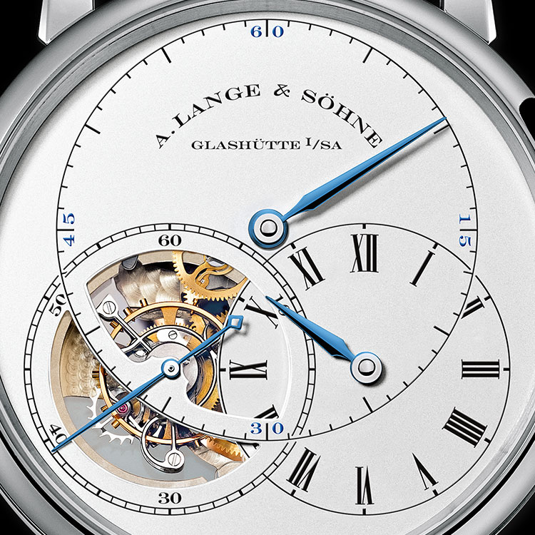 "The three-part regulator dial of the RICHARD LANGE TOURBILLON ""Pour le Mérite"" was inspired by the Dresden master watchmaker Johann Heinrich Seyffert."