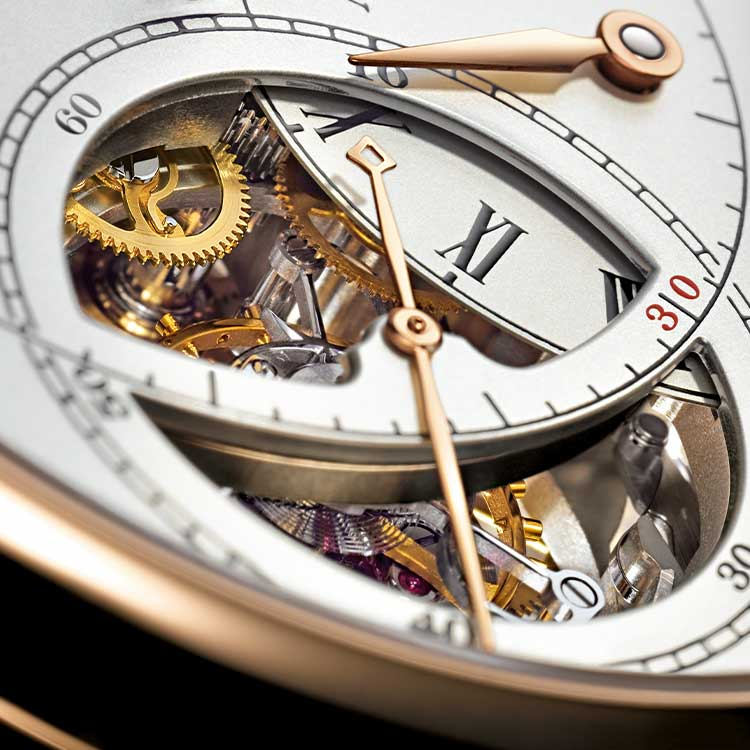 """A special feature of the RICHARD LANGE TOURBILLON """"Pour le Mérite"""" is the opening on the small seconds dial that makes it possible to observe the tourbillon."""