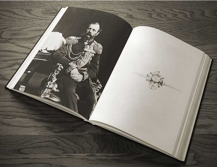 An illustration of Tsar Alexander who also owns a Lange timepiece