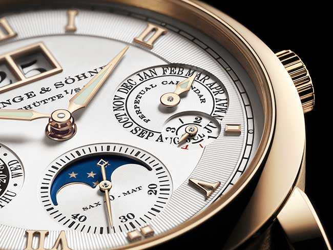 LANGEMATIK PERPETUAL HONEYGOLD in an exclusive honey gold case