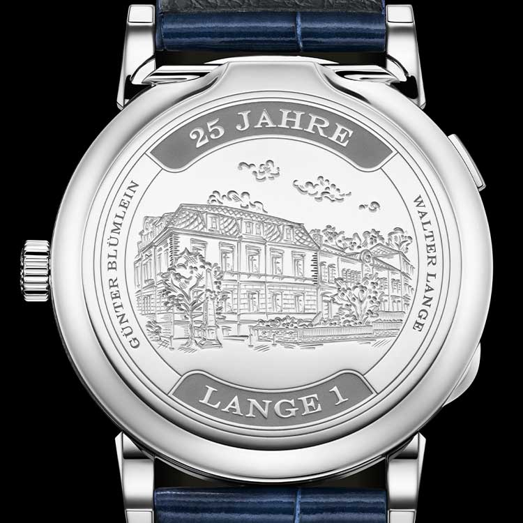 "The LANGE 1 ""25th ANNIVERSARY"" is available in a limited edition of 250 timepieces."