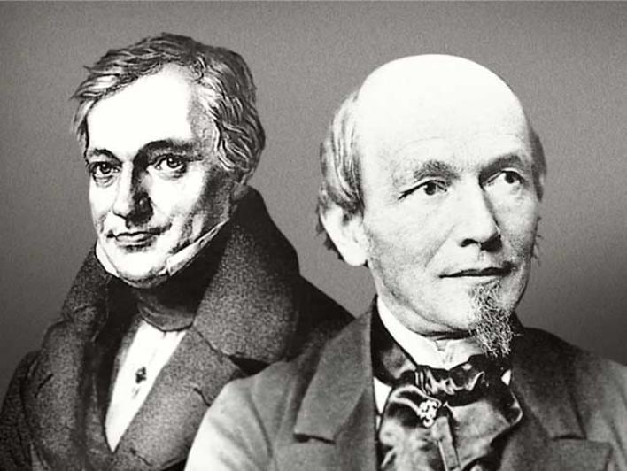 DE A portrait of Ferdinand A. Lange with his mentor and colleague Johann Friedrich Gutkaes